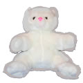 This beautiful pink nose teddy bear is soft and cuddly and fluffy white. An ideal gift for new born baby, communion, get well, anniversary, thank you, mothers day, best friend, happy birthday.